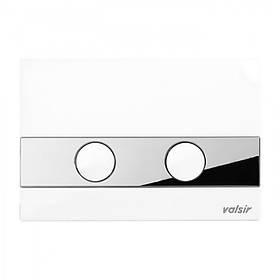 Клавіша змиву Valsir P5 механічна ABS пластик білий/хром