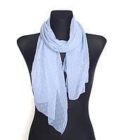 Шифоновый шарф Лейла однотонный 160*50 см голубой