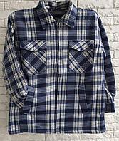 Рубашка теплая мужская на меху размер 48 в розницу, фото 1