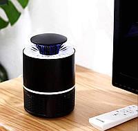 Лампа ловушка уничтожитель комаров и насекомых Mosquito Killer Lamp 5 ВТ, электрическая, USB Черная