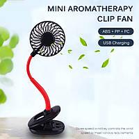 Настольный бесшумный вентилятор на гибкой ножке с клипсой и подсветкой, USB, MIOHONG FY043, Красный