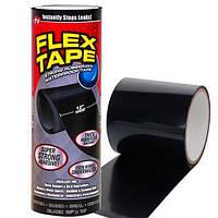 Водонепроницаемая сверхпрочная изоляционная лента скотч Flex Tape 30 см, Черная