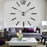 Часы настенные в стиле хай тек Time 3D Палочки 100 см Черный