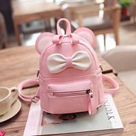 Детский маленький рюкзак сумочка мини рюкзачок сумка для девочки Микки Маус с бантиком