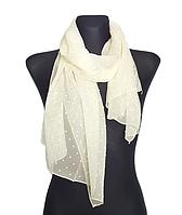 Шифоновый шарф Лейла однотонный 160*50 см бежевый