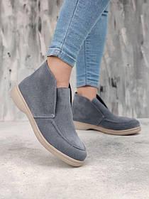 Стильные женские ботинки челси из натуральной замши с байковой подкладкой, размеры 36, 37, 38, 39, 40, 41