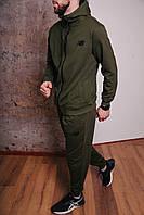 Спортивный костюм мужской хаки NB, натуральный хлопок + полиэстер   Спортивный костюм весенний, брендовый