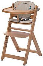 Стільчик для годування Safety Timba з вкладкою Natural Wood