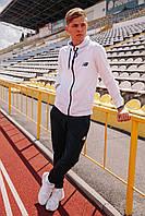 Спортивный костюм мужской белый NB, натуральный хлопок + полиэстер   Спортивный костюм весенний, брендовый