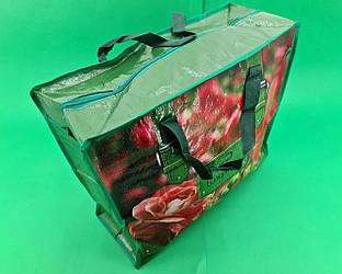 Господарська Сумка , поліпропіленова, з кольоровим малюнком №2 Троянда (10 шт)