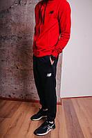 Спортивный костюм мужской красный NB, натуральный хлопок + полиэстер   Спортивный костюм весенний, брендовый