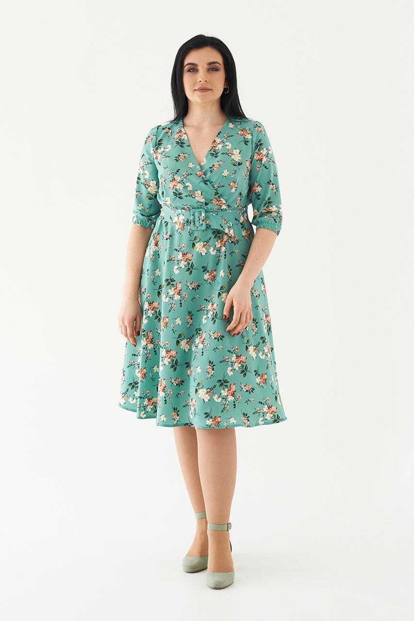 М'ятна сукню з ременем 48, 50, 52,54 розмір