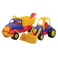 Набір будівельних машин(самоскид + трактор з ковшом) 2шт  UCAR 0145, шт