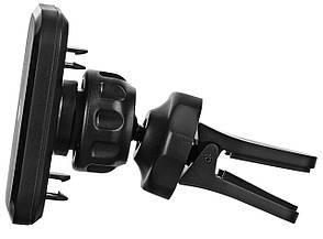 Автомобільний тримач 2E CH01-03 для смартона Магнітний 360° Чорний, фото 2