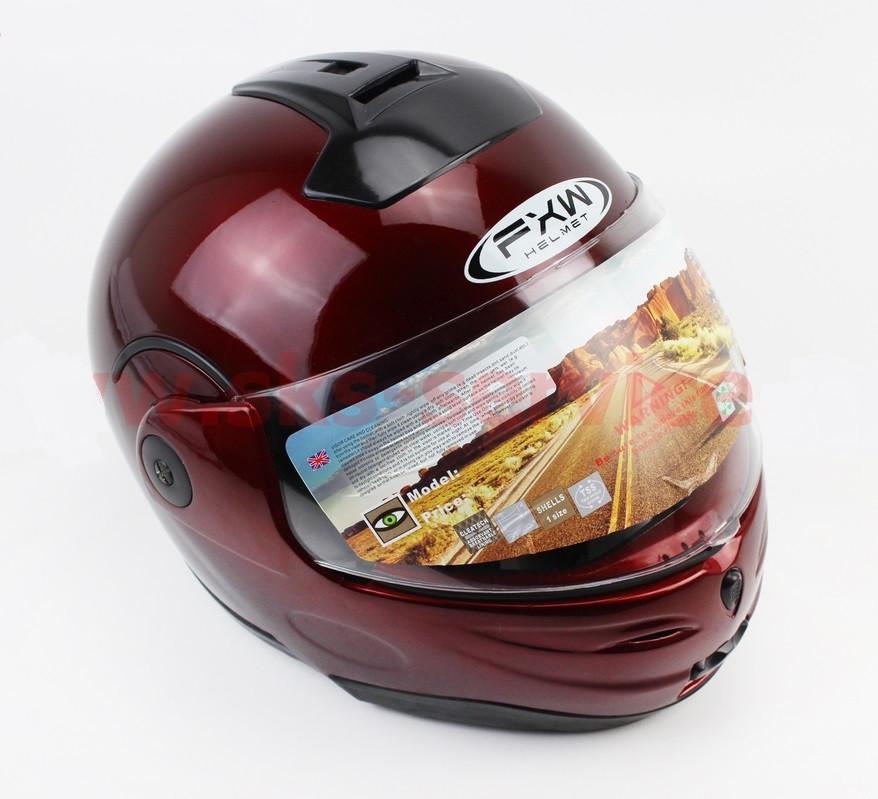 Шлем закрытый с откидным подбородком HF-108 M- БОРДОВЫЙ