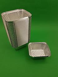 Контейнер з харчової алюмінієвої фольги прямокутний 586мл SP44L 100шт/уп (1 пач.)