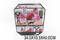 Мебель 66861(1522824) (18шт/2) д/ванной,д/гостиной, с куклой,шкаф,ванна,зеркало,диваны...в кор.34*10, шт