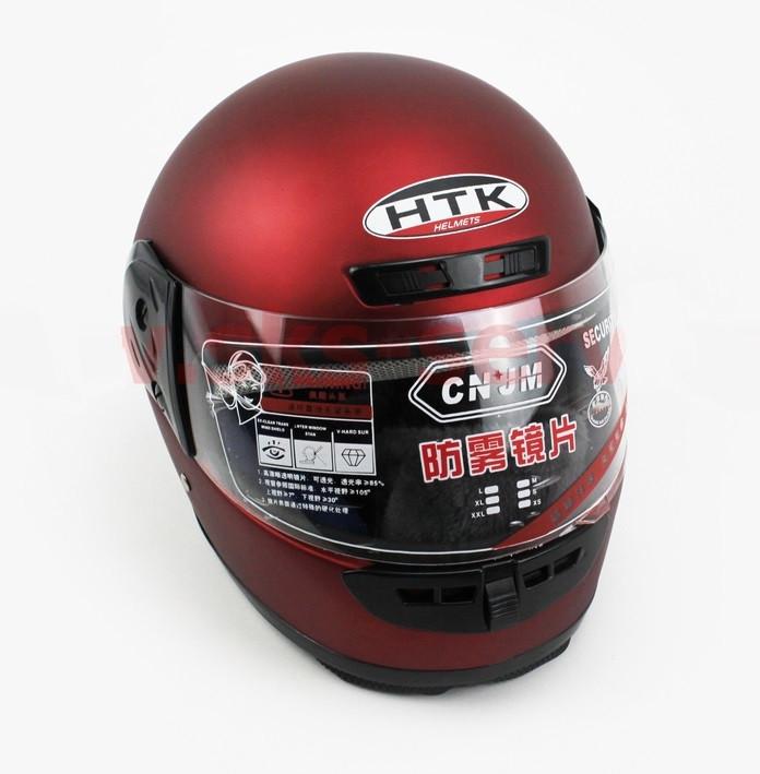 Шлем закрытый HK-221 - КРАСНЫЙ матовый + воротник (возможны царапины, дефекты покраски)