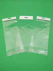 Пакети з липкою стрічкою і европодвесом 9см 19см 25мк (1000 шт)