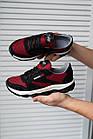 Підліткові кросівки текстильні літні червоні-чорні Emirro 21-42 сітка, фото 2