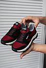 Підліткові кросівки текстильні літні червоні-чорні Emirro 21-42 сітка, фото 3