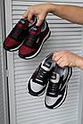Підліткові кросівки текстильні літні червоні-чорні Emirro 21-42 сітка, фото 4