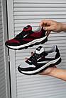 Підліткові кросівки текстильні літні червоні-чорні Emirro 21-42 сітка, фото 5
