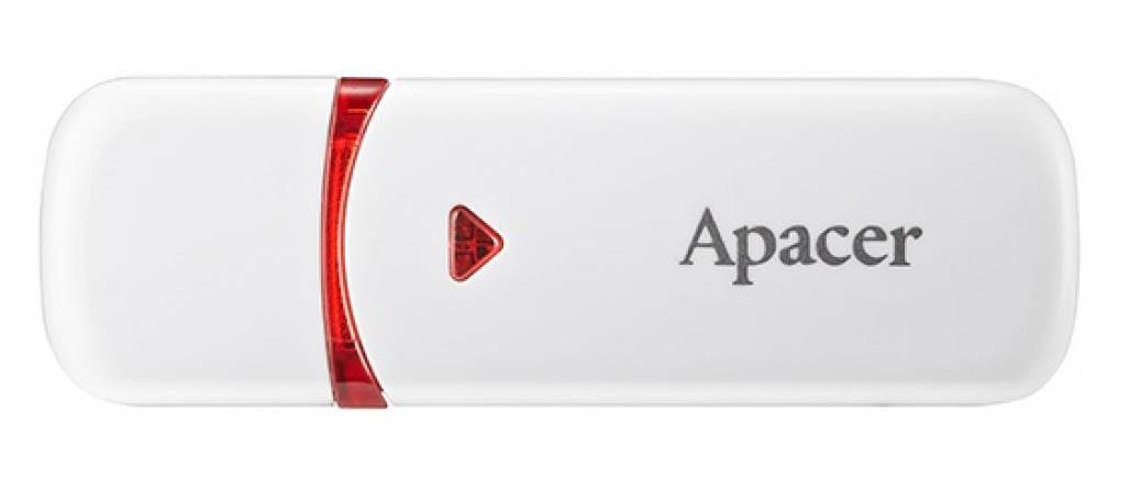 USB Флешка (Флеш-накопичувач) 2.0 Apacer AH333 16GB Білий (AP16GAH333WH)