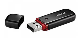 USB Флешка (Флеш-накопичувач) 2.0 Apacer AH333 16GB Чорний (AP16GAH333B1), фото 2