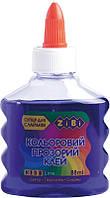 Клей ПВА ZiBi KIDS Line 88 мл прозрачный фиолетовый (ZB.6111-07)