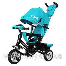 Детский трехколесный велосипед TILLY STORM T-349/2 (бирюзовый цвет)