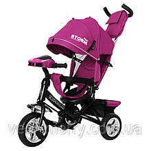 Детский трехколесный велосипед TILLY STORM T-349/2 (фиолетовый цвет)