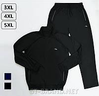 Большой размер: 52/54/56/58. Мужской спортивный костюм ST-BRAND / Трикотаж лакост - черный