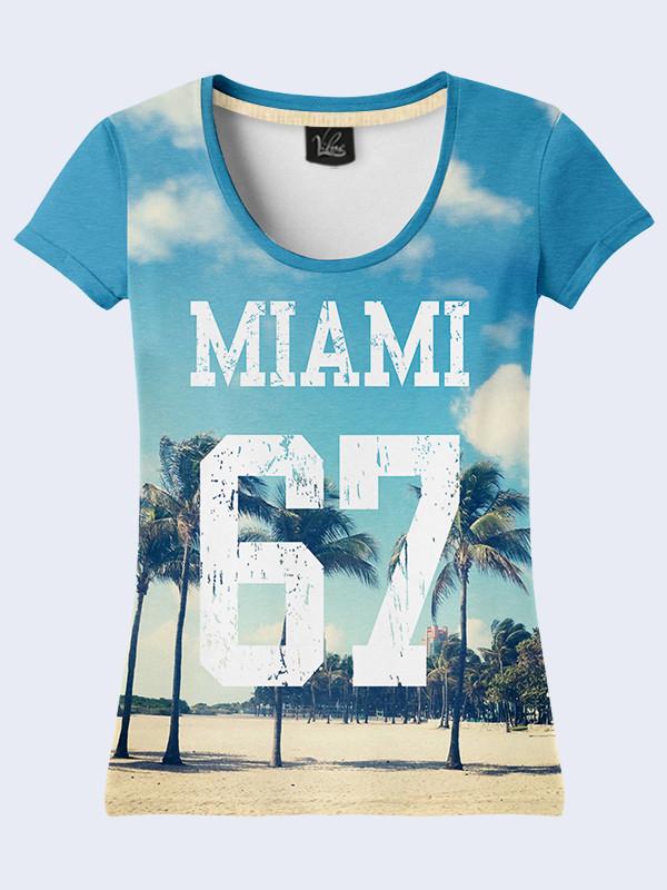 Жіноча літня футболка з принтом Майамі 67