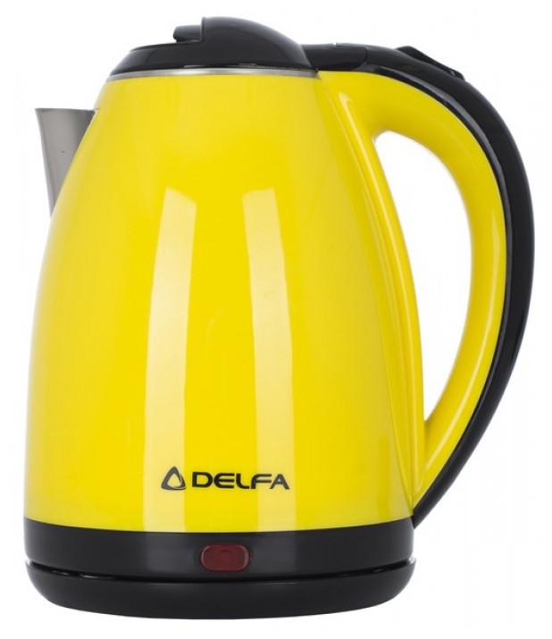 Електрочайник DELFA DK 3500 X 1.8 л 1500 Вт Жовтий/ Чорний