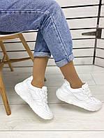 Кроссовки кожаные белые, фото 1