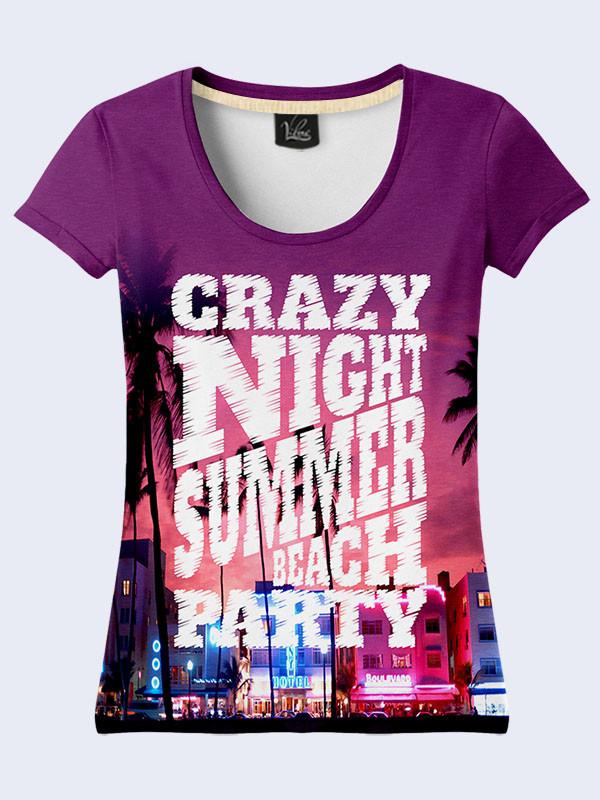 Женская футболка с принтом Ночной город