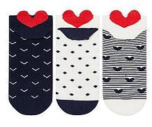 Носки женские укороченные 3D Bross сердечки