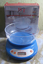 Ваги кухонні електронні з чашею DT-01 (до 5 кг, синій)