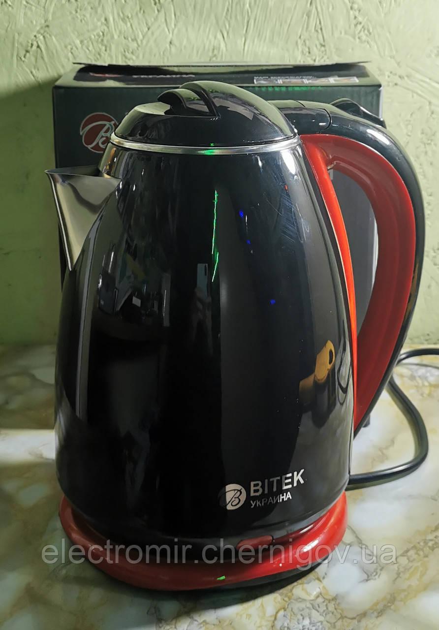 Чайник электрический Вітек BT-3114 (2 л, 1500 W, чёрный)