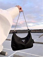 Жіноча сумка Prada Nylon Shoulder Bag Black