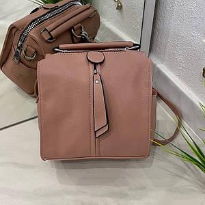 Сумка-рюкзак Compact темная пудра  КОМ3