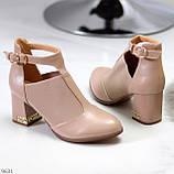 Ефектні зручні рожеві жіночі туфлі з еластичними вставками на підборах, фото 3