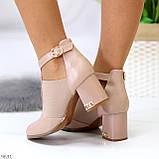 Ефектні зручні рожеві жіночі туфлі з еластичними вставками на підборах, фото 5