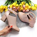 Ефектні зручні рожеві жіночі туфлі з еластичними вставками на підборах, фото 6