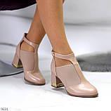 Ефектні зручні рожеві жіночі туфлі з еластичними вставками на підборах, фото 8