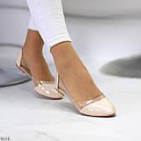 Утонченные глянцевые силиконовые светлые нюдовые бежевые женские балетки, фото 8