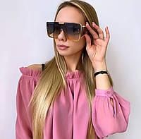 Жіночі великі кольорові сонцезахисні окуляри (маска), фото 1
