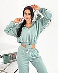 Жіночий спортивний костюм - трійка, трикотаж - двунить, р-р 42-44; 46-48 (оливка), фото 3