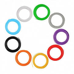 Пластикова нитка для 3д ручки 100 метрів 10 мотків, Разнацветный